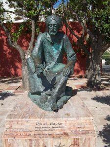 Statue d'Ibn Baytâr au musée de Benalmadena, province de Malage, Espagne (Wikipédia)